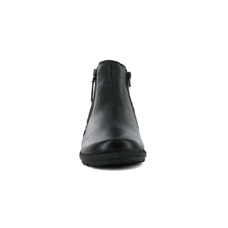 Altex Bottines chaussures femme hiver confort chaud Cuir