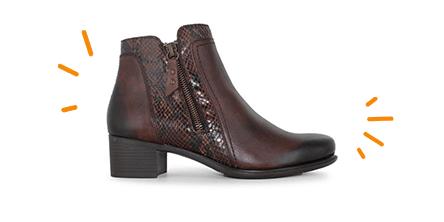 bottines en cuir pied confort